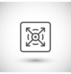 Three dimensional line icon vector image