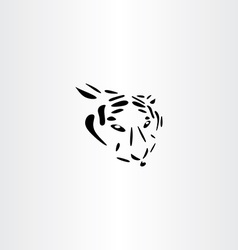 tiger icon design vector image vector image