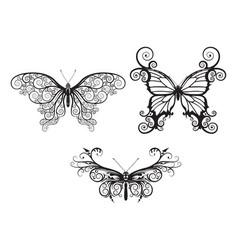 abstract butterflies vector image vector image