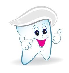 cartoon tooth vector image vector image