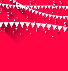 cute background with hanging pennants for carnival vector image