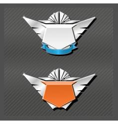 emblems series wings vector image vector image