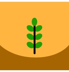 flat icon design collection tree leaf vector image