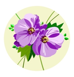lilac flowers vector image vector image