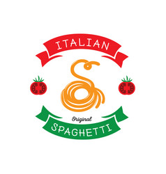 original spaghetti with s letter typography vector image vector image