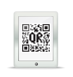 QR code in a maderd gadget vector image vector image