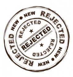 rejected ink stamp vector image