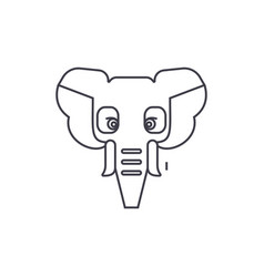elephant india line icon sign vector image vector image