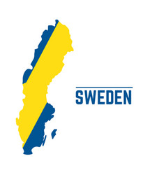 flag and map of sweden vector image vector image