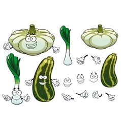 Onion squash and zucchini vegetables vector image vector image