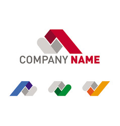 real estate and construction roof logo set vector image
