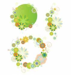 set of design floral elements vector image vector image