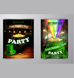 st patrick s day poster vector image