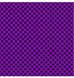 Tile pattern with black polka dots on violet vector