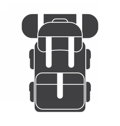 Tourist Backpack Rucksack Icon vector image vector image