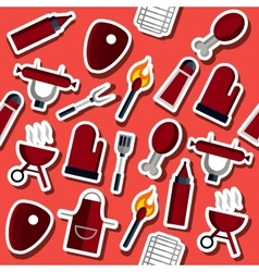 Barbecue flat collage vector