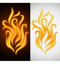 burning vector image