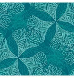 decorative filigree pattern vector image vector image