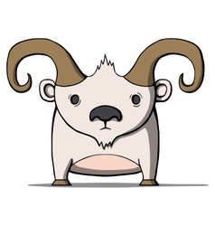 Funny cartoon goat vector image vector image