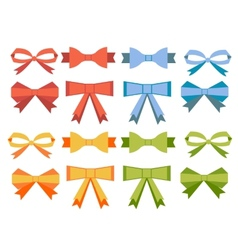 The collection of flat bow vector image vector image