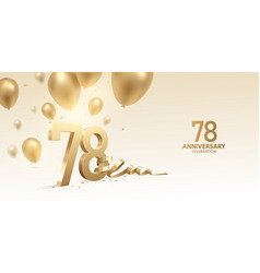 78th anniversary celebration background vector image