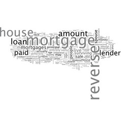 A primer on reverse mortgages vector