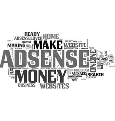 Adsenselover make money at home with vector