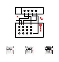 Analog connection device module sound bold and vector