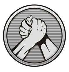 Arm wrestling icon vector