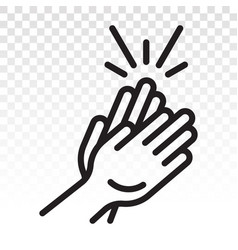 Audience clap applause clapping hands line art vector