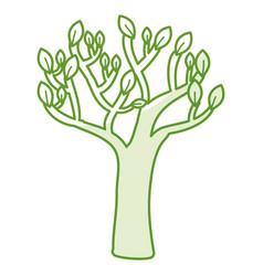 Autumn tree plant isolated icon vector