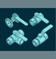 Ball valves set vector