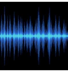 Blue Sound Wave on Black Background vector
