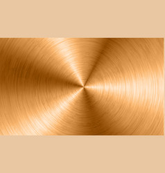 bronze metal background with realistic circular vector image