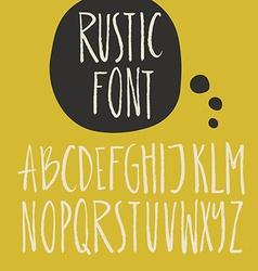 Brushy font vector