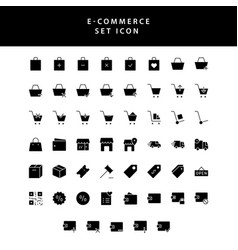 Business e-commerce shopping and finance glyph vector