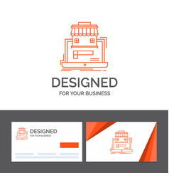 Business logo template for marketplace vector