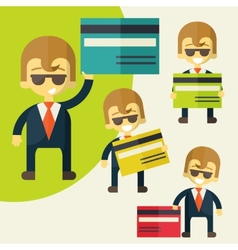 Businessman credit card vector