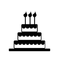 Cake Celebrate Icon Silhouette vector image