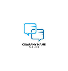 chat logo design template vector image