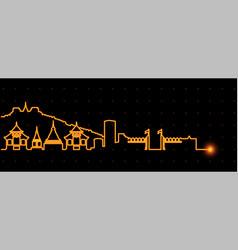 Chiang mai light streak skyline vector