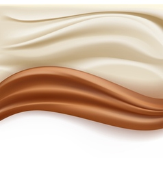 Chocolate abstract waves vector