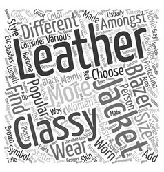 Classy Leather Jackets and Blazers text background vector