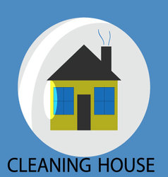 Cleaning house icon vector