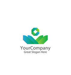 Corporate business finance logo concept vector