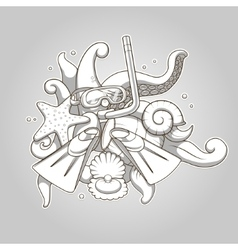 Diving abstraction colorless vector