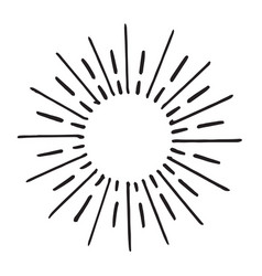 Doodle design element hand drawn spark vector