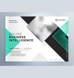 Elegant professional business brochure vector