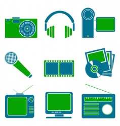 entertainment symbols vector image