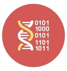 Genome code flat round icon vector